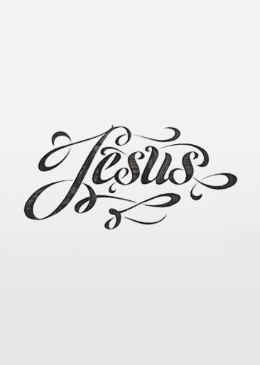tattoo lettering jesus calligraphy contrast font jesus lettering swirls