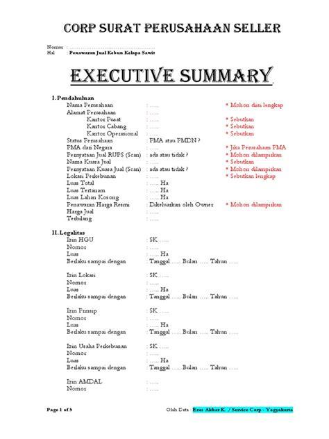 summary lahan sawit ori pdf