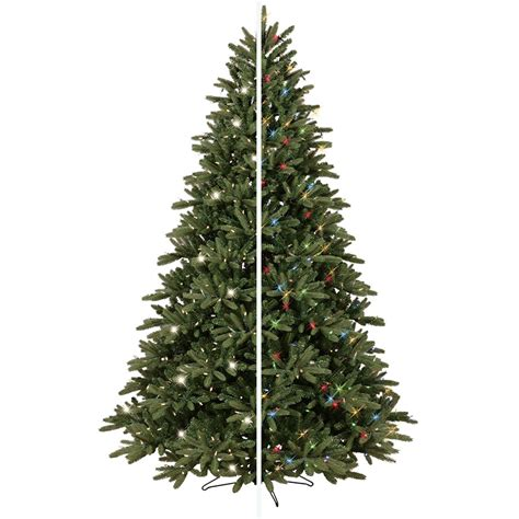 ge 75 ft pre lit alaskan fir flocked artificial christmas tree with 600 color changing warm white led lights pre lit tree lowes fishwolfeboro