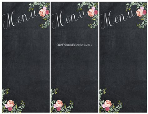 chalkboard card template sle chalkboard menu template 19 documents
