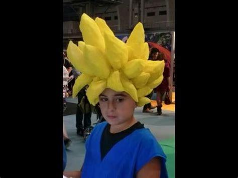 como hacer pelucas de papel c 243 mo hacer una peluca goku wig youtube
