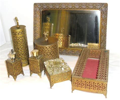 vintage gold filigree 7 vanity set vintage