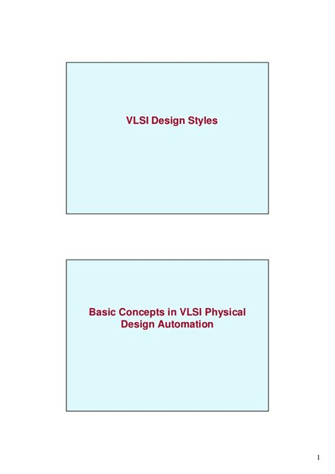 vlsi layout design interview questions vlsi design styles