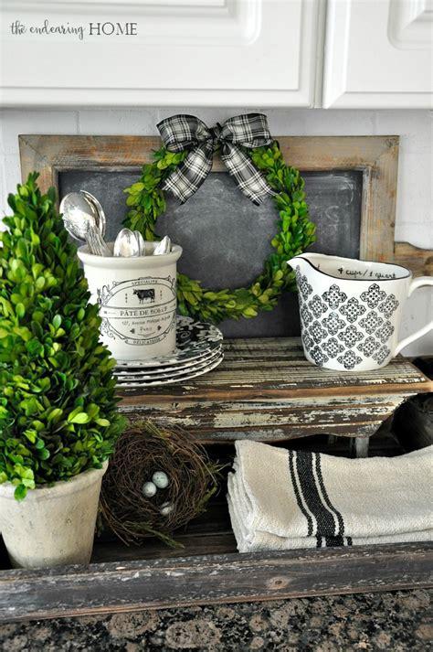 decor blog cottage farmhouse style vignette in the kitchen