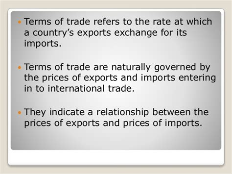 Mba In Export Import In Usa by Terms Of Trade