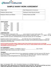 Babysitting Contract Template by Nanny Contract Template For Excel Pdf And Word