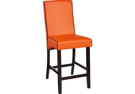 Orange Fabric Bar Stools by Mimosa Orange Counter Height Stool Barstools Orange