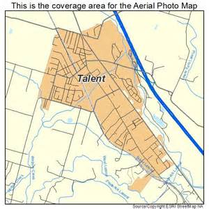 aerial photography map of talent or oregon