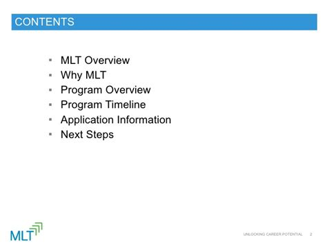 Mlt Mba Prep Timeline by Mlt Career Prep 2012 Info Session Recording