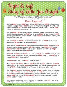 the night before christmas poem exchange gift chritmas on names white elephant gift and to play