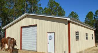 Pole Barn Metal Backwoods Buildings Pole Barns Metal Trusses Florida