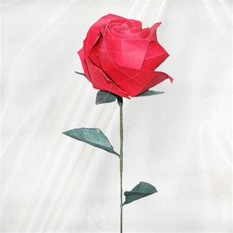 Buy Origami Roses - buy premium origami with 2 leaves