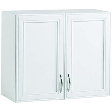 laminate cabinets home depot akadahome 28 in w 2 shelf laminate wall cabinet in white