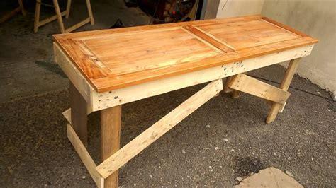 banc en palette . table en palette . table de jardin