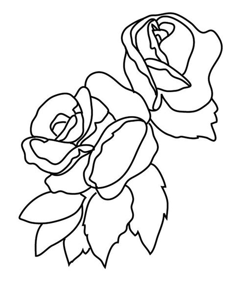free coloring pages of three flowers