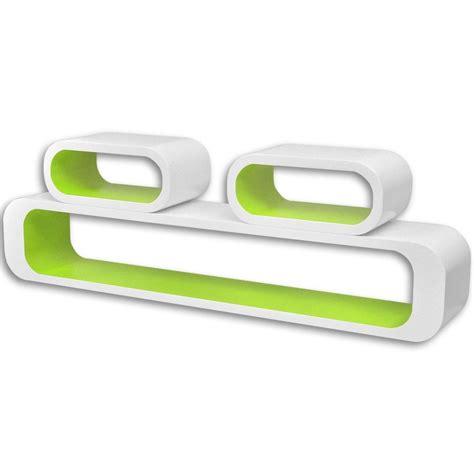 mensole bianche articoli per 3 mensole per pareti bianche verdi mdf per