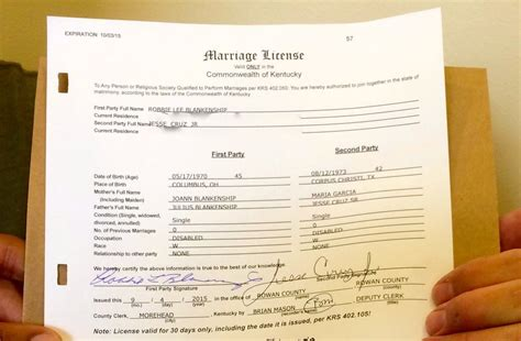 Ky Marriage License Records Kentucky Clerk Says She Won T Authorize Marriage Licenses