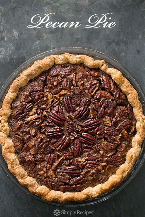 traditional pecan pie  fresh pecans molasses corn
