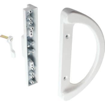 sliding glass door handle 3 15 16 quot sliding glass door handle white hd supply