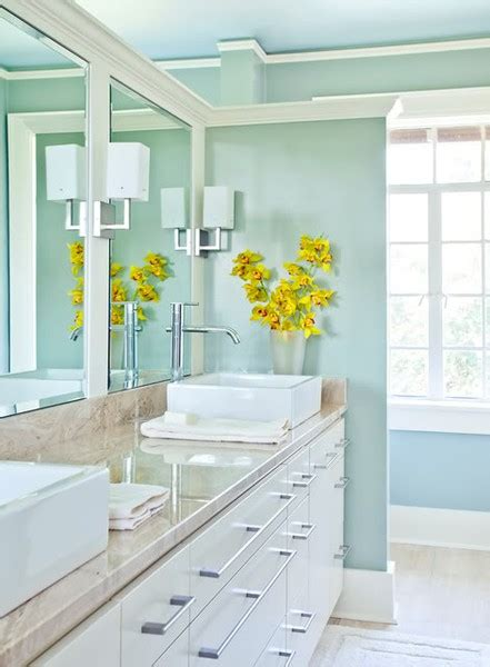 Turquoise And White Bathroom by Turquoise House