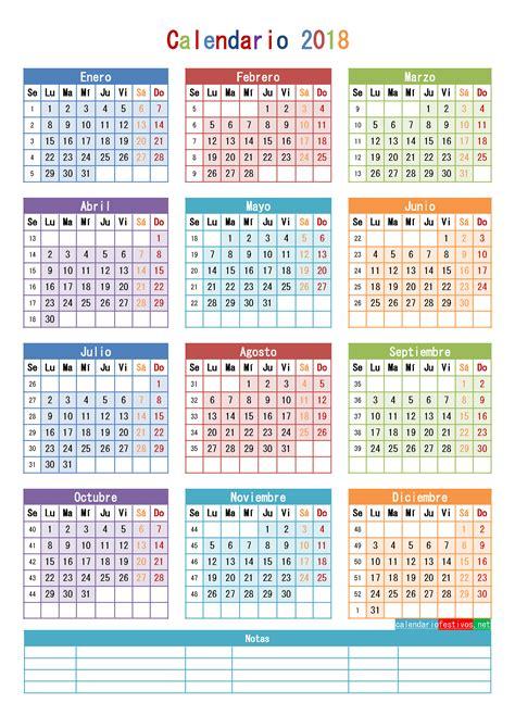 2018 Calendar With Numbered Weeks Calendario 2018 Para Imprimir Anual Mensual Escolar