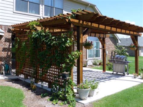 privacy pergola attractive outdoor privacy screen and pergola ideas 15