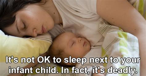 It S Not Ok To Sleep Next To Your Infant Child In Fact