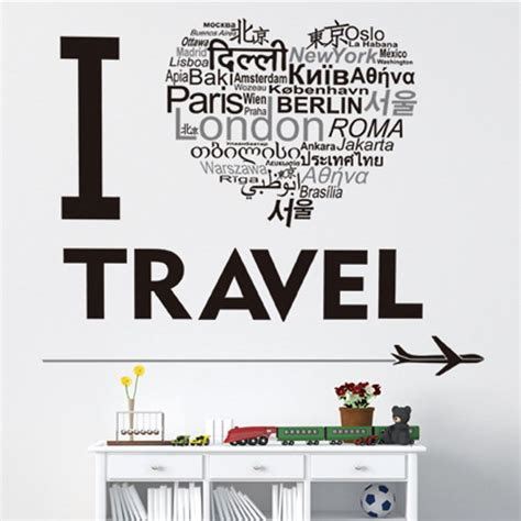 Map Of The World Wall Mural i love travel wall sticker travel bible shop