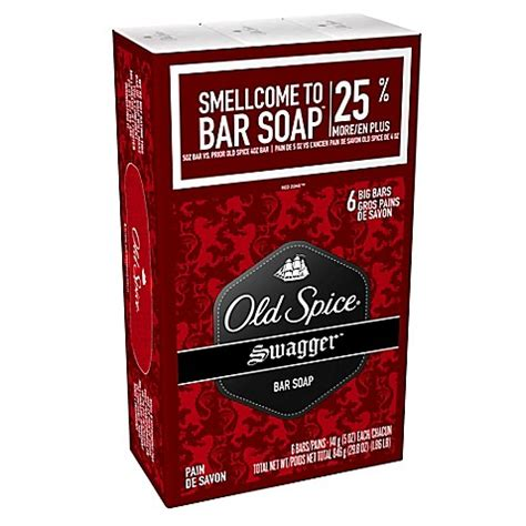 bar of soap in bed old spice 174 6 count 4 oz bar soap in swagger bed bath
