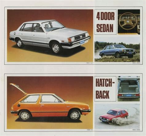 subaru hatchback 1980 1980 subaru british brochure 4 door sedan hatchback