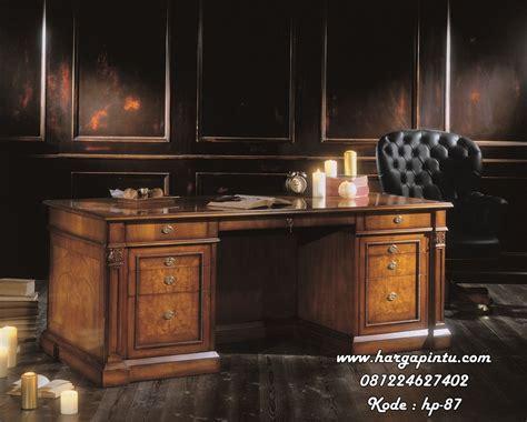 Meja Direktur Kayu Jati desain meja direktur elegan kayu jati harga pintu harga