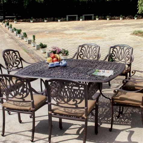 Darlee Elisabeth 9 Piece Cast Aluminum Patio Dining Set Patio Dining Sets