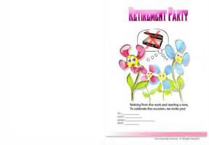 free printable retirement invitations