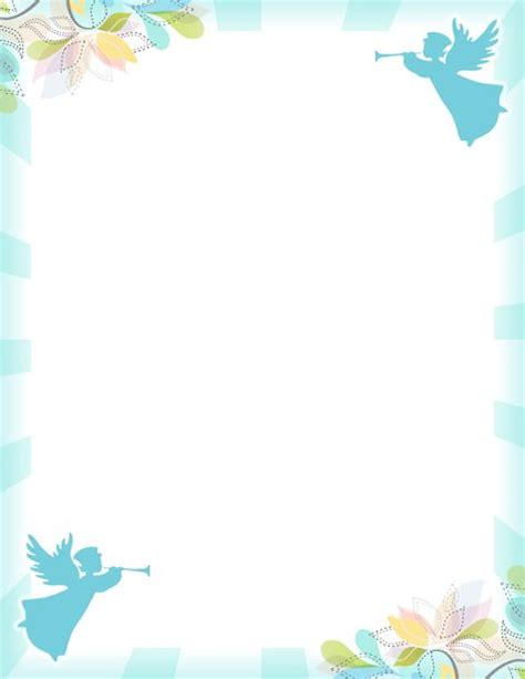 free printable vector stationery printable angel border free gif jpg pdf and png