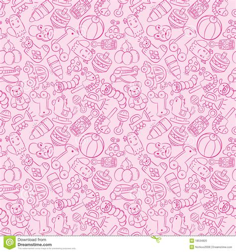 pattern drawing toy seamless baby toy pattern stock photo image 18534820