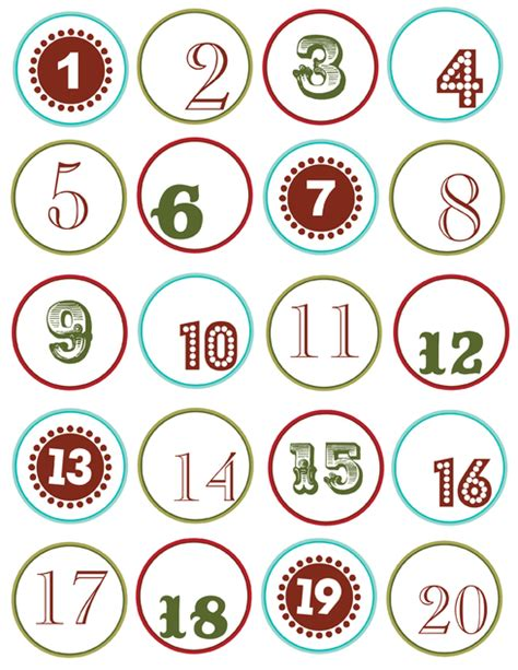 printable numbers 1 24 sz 225 mok 1 24 ig adventi napt 225 rhoz