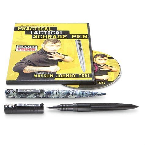 schrade pen schrade 174 black tactical pen with dvd 197845 self