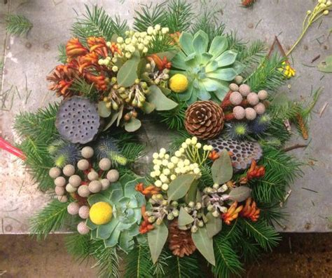 australian native themed christmas wreath christmas