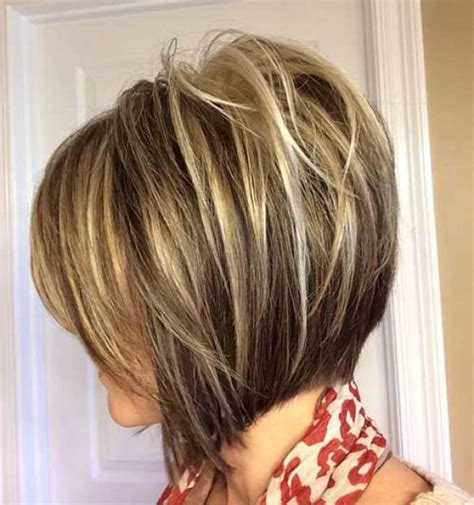 reverse layered haircut highlighted inverted layered bob hairstyle bob haircuts