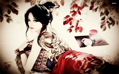 tattooed geisha 701664 walldevil