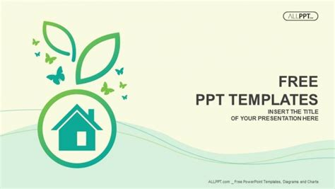 powerpoint design house free nature powerpoint templates design