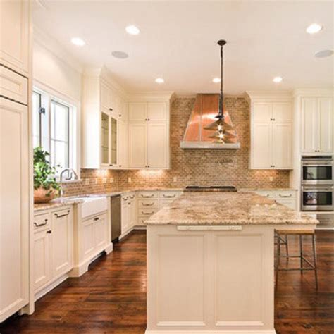 white with backsplash and granite home decor