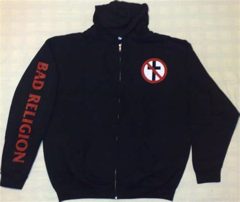 Jaket Sweater Hoodie Zipper Bad Religion hoodies sweaters collectibles the bad religion page since 1995