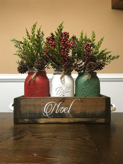 mason jar chirstmas centerpiece mason jar christmas by