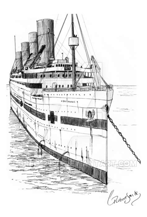 Britannic Bow View By Greg12580 On Deviantart Britannic Coloring Pages