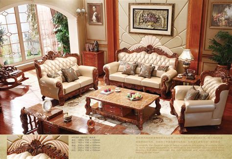 Hardwood Living Room Furniture Aliexpress Buy Turkish Brown And White Leather Sofa Set Solid Wood Furniture Modern
