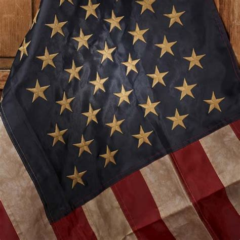 americana decorations primitive tea dyed american flag wall decor home decor