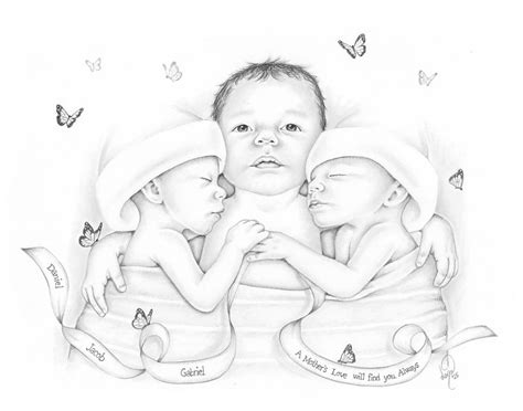 i draw baby portraits for families who suffered early