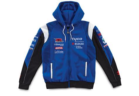 Suzuki Clothing Genuine Unisex Tyco Suzuki 2012 Team Hoodie Blue Cotton