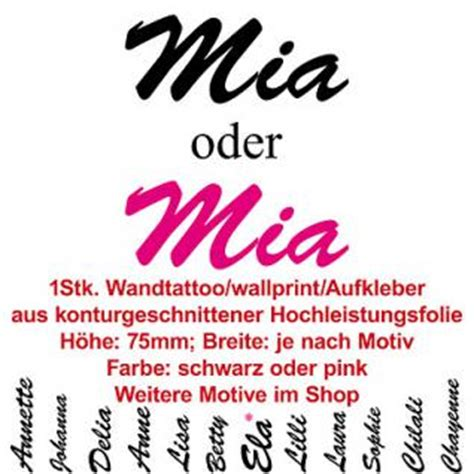 Aufkleber Name Mia by Cars Kinderzimmer G 252 Nstig Online Kaufen Bei Yatego